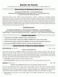 Marketing Executive Resume Sales Example Sample Template