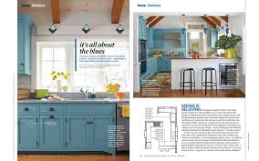 better homes gardens article called it s all about the blues featuring kitchen design