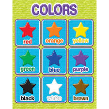 Color My World Colors Chart