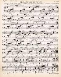 printable vintage sheet music autumn printable antique sheet music via knickoftime net