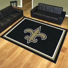 area rug 8 x rugs new orleans saints