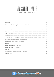 apa sample paper table of contents rules all you need to know about apa sample paper s table of content page