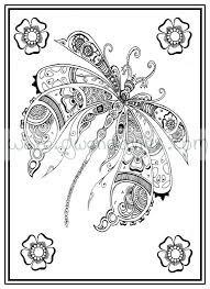 Small Picture Adult colouring in PDF download dragonfly henna zen mandalas