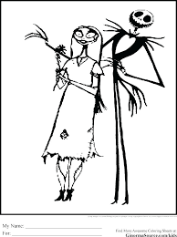 Jack Skellington Coloring Page Top Nightmare Before Coloring Pages