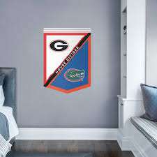 florida gators georgia bulldogs house divided banner giant officially licensed removable wall decal