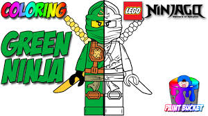 Lego Ninjago Green Ninja Lloyd Garmadon Minifigure Lego Coloring Pages For Kids To Color And Play