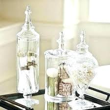 decorative glass containers inspiring bathroom set of 3 apothecary jars wallpaper is other parts large clear