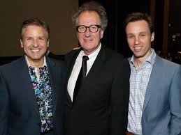 at the movies george h w bush ex pres hosts starry sneak  10 ernie manouse geoffrey rush and the book thief author markus zusak at