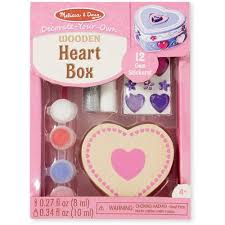 Melissa And Doug Decorate Your Own Jewelry Box Melissa Doug DecorateYourOwn Wooden Heart Box Craft Kit 45