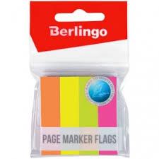 <b>Флажки</b>-<b>закладки Berlingo</b>, 12*50мм, 100л*<b>4</b> неоновых цвета ...