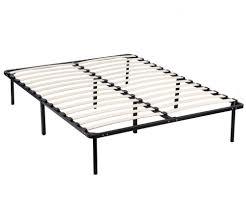 metal platform bed frame. New Wood Slats Metal Platform Bed Frame Mattress Foundation Bedroom Rounded Edge D