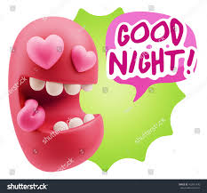 goodnight emoji 3d rendering emoji saying good night stock illustration 452041936