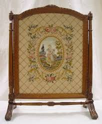 victorian fireplace screens 532 victorian needlepoint fireplace screen in carved w