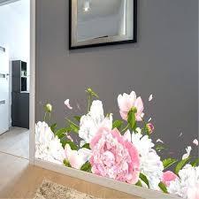 flower wall decals for nursery australia 3d vase peony vinyl stickers art kids room pretty s flower wall decals nz canada pink 3d