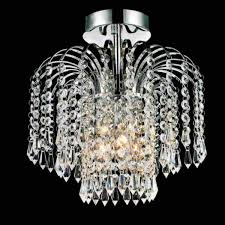 living decorative flush mount chandelier 17 0000717 12 fountain crystal semi small round chrome gold 3