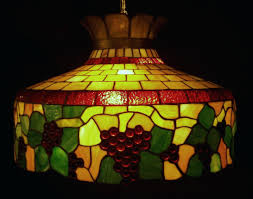 vintage stained glass hanging lamp awesome