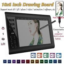 <b>G10</b> Digital <b>Tablet</b> 10x6 Inch Large Screen <b>Hand</b>-<b>painted</b> Board ...