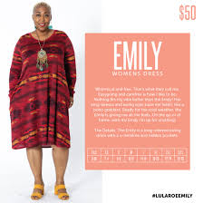 Lularoe Emily Long Sleeve Dress Swing Style New Release For