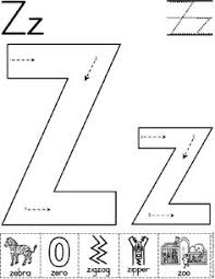 Alphabet Letter Z Worksheet | Standard Block Font | Preschool ...