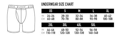 Boxer Size Chart 2undr Sizing Chart