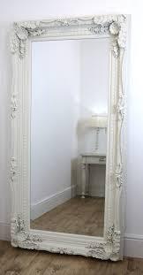 white floor mirror. White Swept Leaner Mirror Floor 2