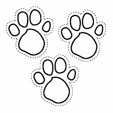 Small Picture Blues Print Foot Coloring Page Animal pages of KidsColoringPage