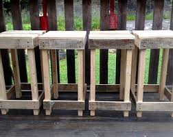 pallet furniture etsy. rustic reclaimed pallet wood stool backless bar furniture etsy a