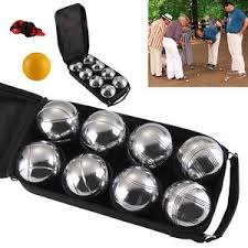 Wooden Ball On String Game 10000 French Ball Steel Boules Set Garden Beach Park GameCase100 70
