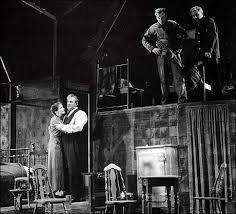 production shot of arthur miller s death of a sman during it s today in theatre history in willy l steps onto a broadway stage for the first time as arthur miller s death of a sman premieres at the morosco