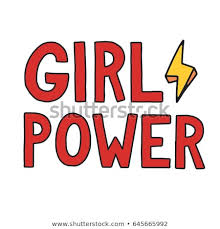 Girl Power Feminism Quote Woman Motivational Stock Vector Royalty