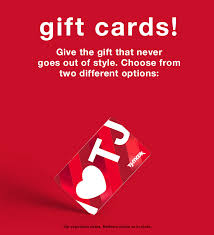 gift cards t j ma