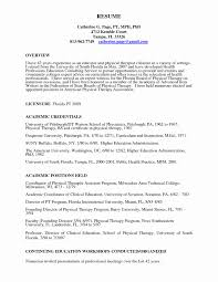 Physical Therapy Resume Format Fresh Pta Resume Assistant Resume Pta