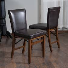 lane bonded leather folding dining chair set of 2 by christopher knight home