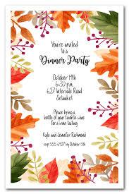 Beautiful Autumn Leaves Fall Party Invitations