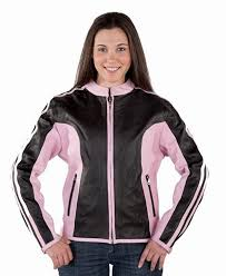 las pink and black leather jacket