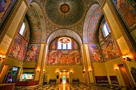 the rotunda of the central library in downtown l a