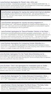 someone went and made a lena dunham apology generator leslie lefkowitz hotmesslie · 18 nov 2017