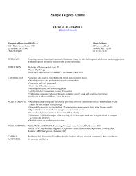 Targeted Resume Template Targeted Resume Resume Templates Targeted Resume Template Best 3