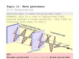 Examples Of Polarized And Unpolarized Light Ppt Topic 11 Wave Phenomena 11 5 Polarization Powerpoint
