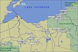 map of ashland county, iron county & gogebic county waterfalls Ashland Map ashland county wi, iron county wi & gogebic county mi waterfalls ashland maplewood