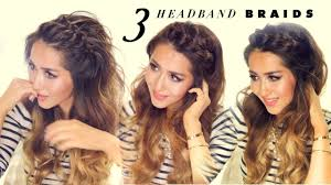 Quick Hairstyles For Braids 3 Easy Peasy Headband Braids Quick Hack Hairstyles For Short