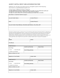 Credit Card Authorization Form Template Projects To Try House