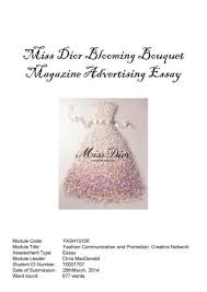 fragrance analysis miss dior by coey cwy issuu miss dior blooming bouquet magazine advertising essay