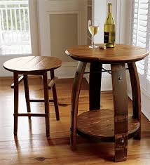 wood barrel furniture. Wine Barrel Stave Table Wood Furniture O