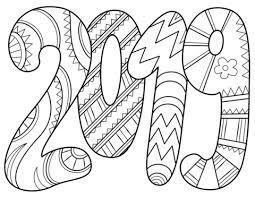 Disegno Di 2019 Da Colorare Disegni Da Colorare E Stampare Gratis