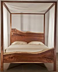 ... wood canopy bed frame queen ideal king size bed frame on white bed frame  ...