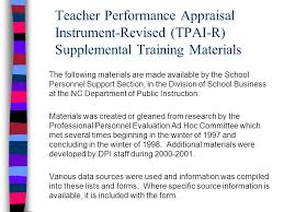 What Is Performance Evaluation Form Impressive Teacher Performance Appraisal InstrumentRevised TPAIR