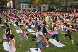 yoga at bryant park