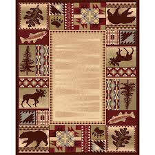 balta american rhythm red indoor lodge area rug common 8 x 11 actual