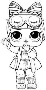 Lol Doll Coloring Pages Sugar Series 1 Surprise Queen Bee Classy World